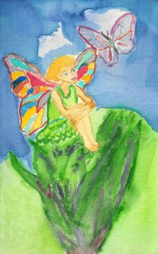 aquarel - fairy by Margareth Lee